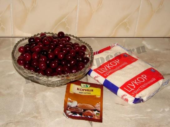 ингредиенты для варенья из вишен
