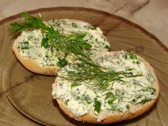 Рецепт бутерброды с зеленью