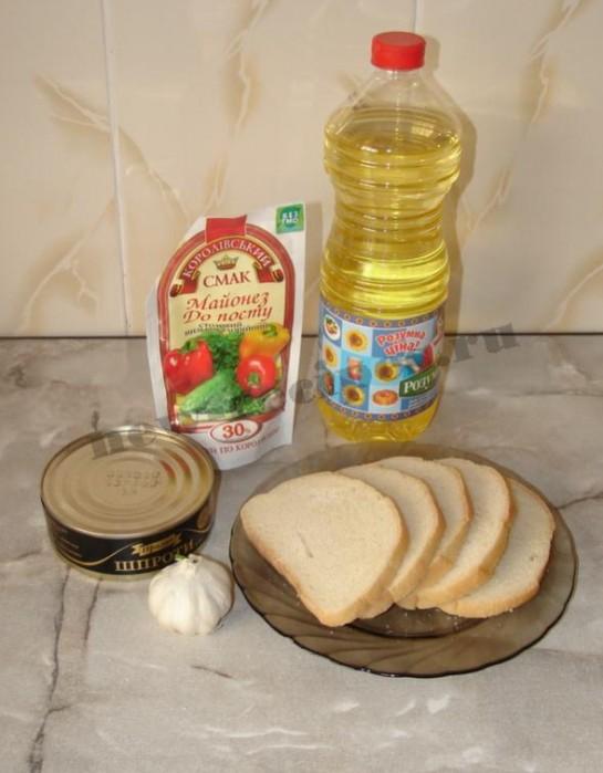 Бутерброды со шпротами 1