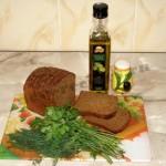 Бутерброды с зеленью и оливковым маслом