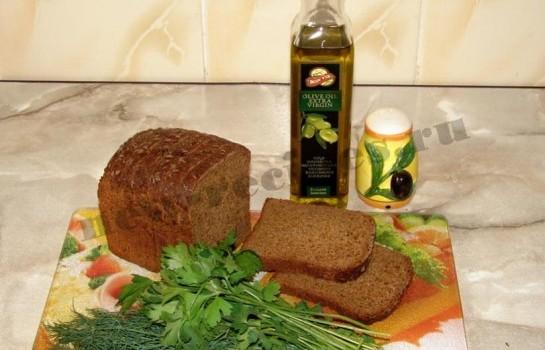 Бутерброды с зеленью и оливковым маслом 1