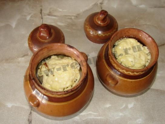 Картофель с грибами в горшочке 14