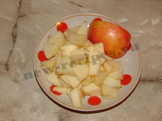 Оладушки с яблоками 5