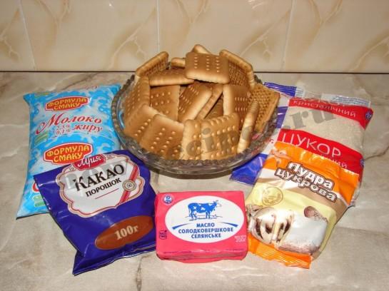 ингредиенты для пирожных картошка