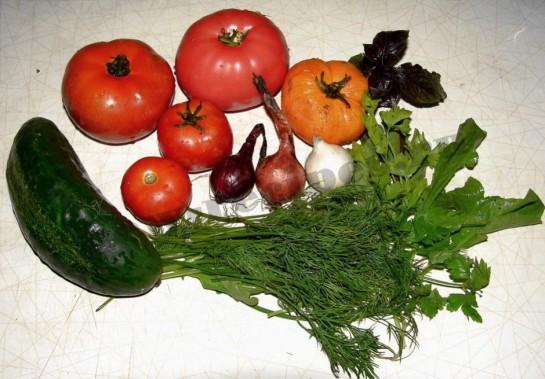 ингредиенты для разноцветного салата