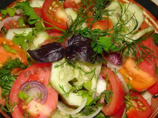 салат разноцветный