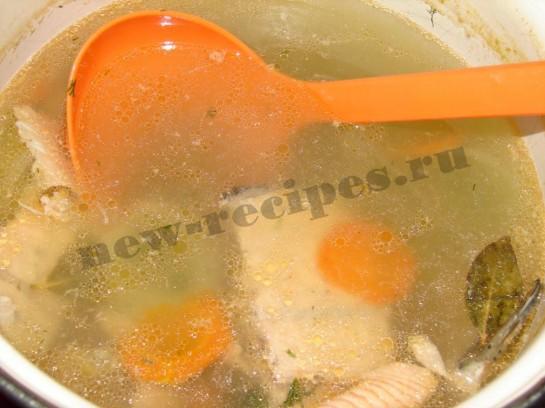 Суп с красной рыбой рецепт пошагово с