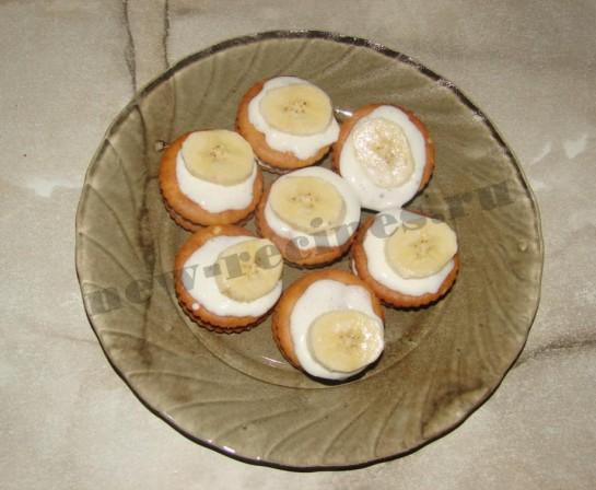 Банановые пирожные 7