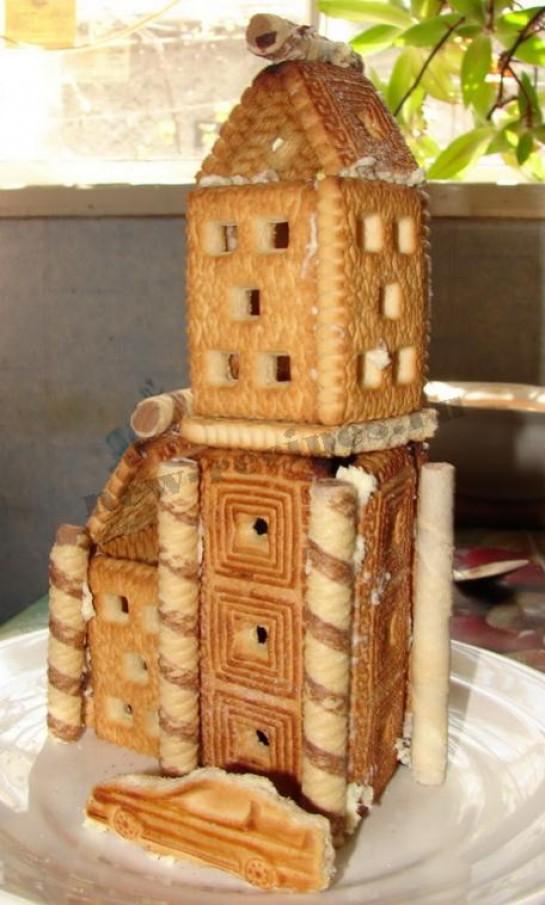 Домик из печенья рецепт с фото
