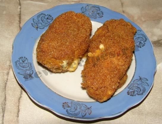 Котлеты из курицы с сыром 10