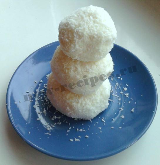 Новогодний десерт Снеговичок 4