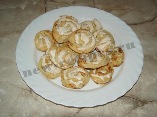 Печенье творожное розочки 14
