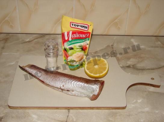Рыба запеченная под майонезом 1