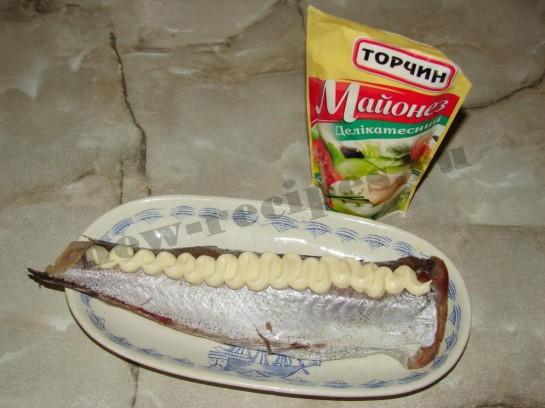 Рыба запеченная под майонезом 3