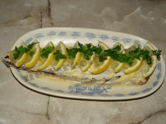 Рыба запеченная под майонезом 7