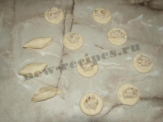 Слоёные мини пирожки 4