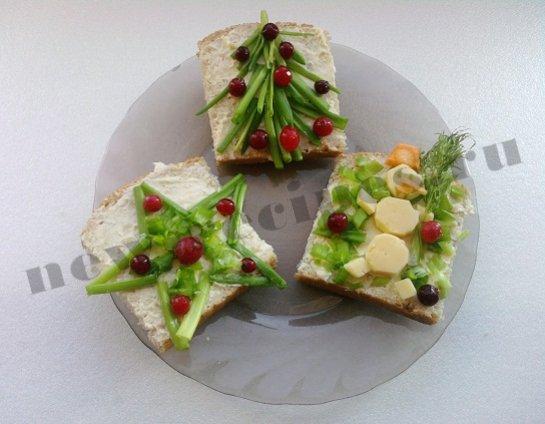 Новогодние бутерброды 4