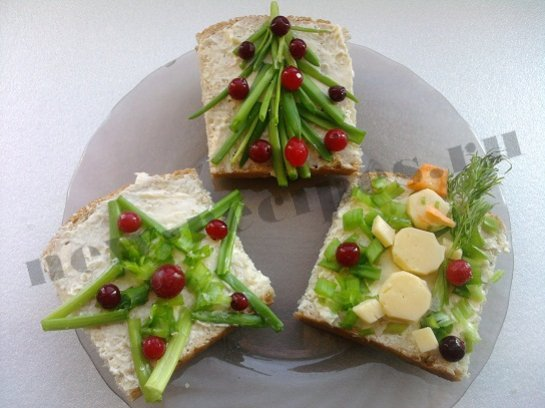 Бутерброды к новому году простые и вкусные
