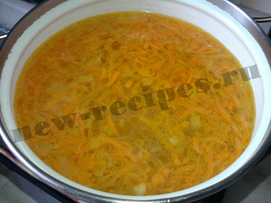 добавим зажарку в суп