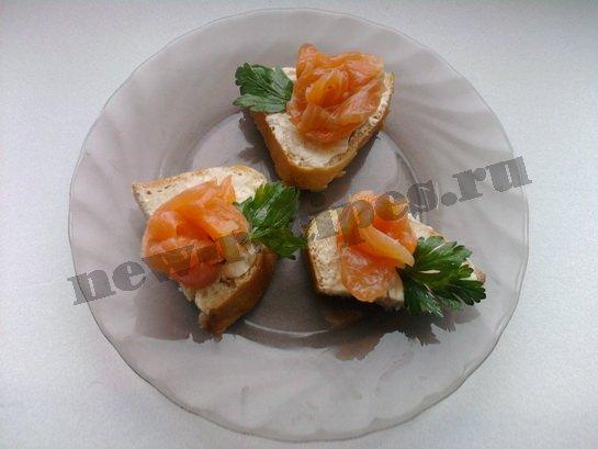 бутерброды с красной рыбой 10