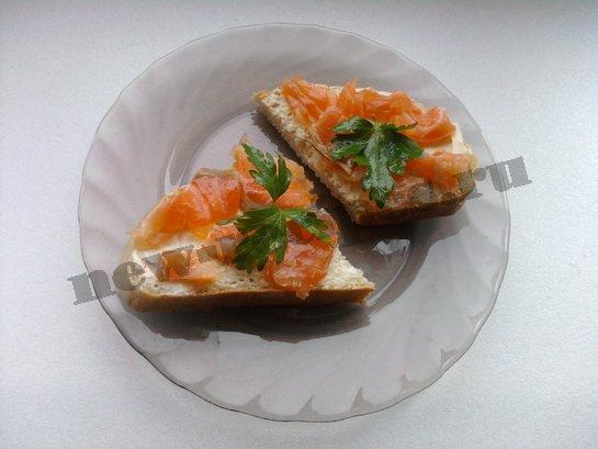 бутерброды с красной рыбой 5