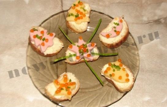 новогодние бутерброды 9