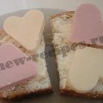 бутерброды валентинки