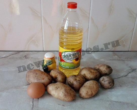 жареный картофель с яйцом 1
