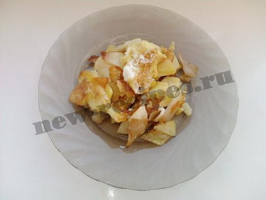 жареный картофель с яйцом 8