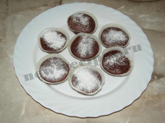 мини кексы Шоколадные бомбочки 12