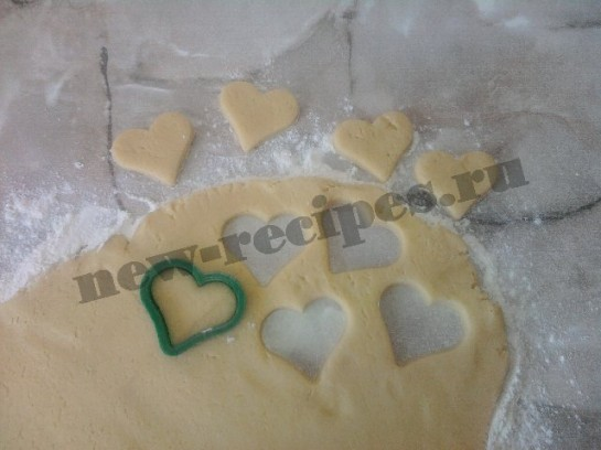 печенье в виде сердечек 10