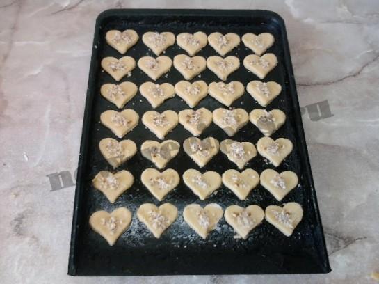 печенье в виде сердечек 13