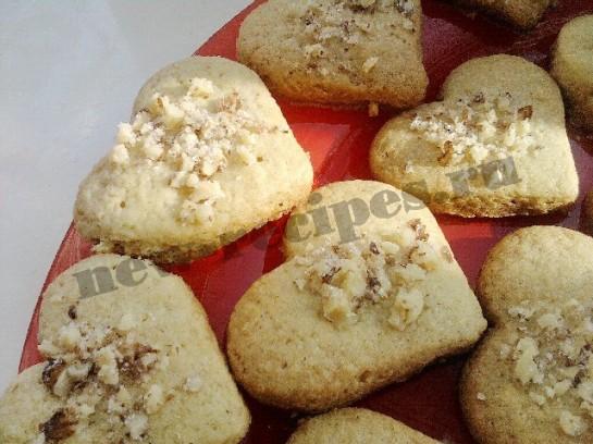 печенье в виде сердечек