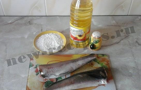 рыба жареная хек 1