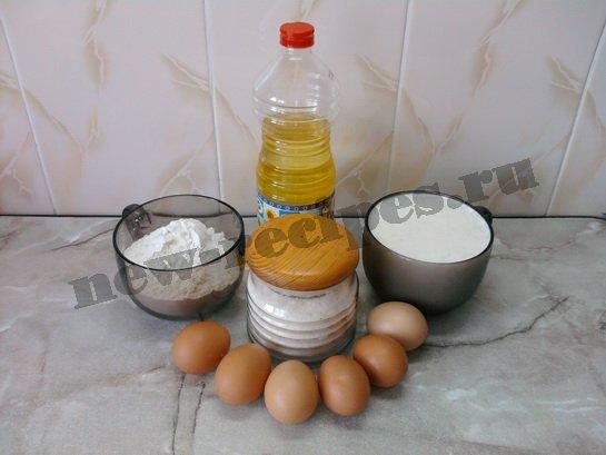 ингредиенты для блинчиков на молоке