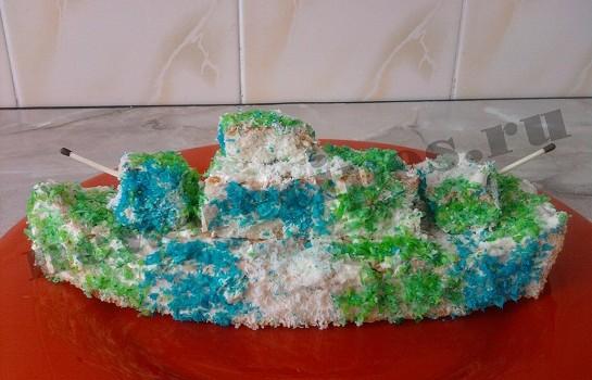 торт в виде корабля 9
