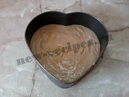 торт сердце шоколадный бисквит 11