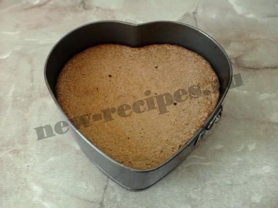 торт сердце шоколадный бисквит 12