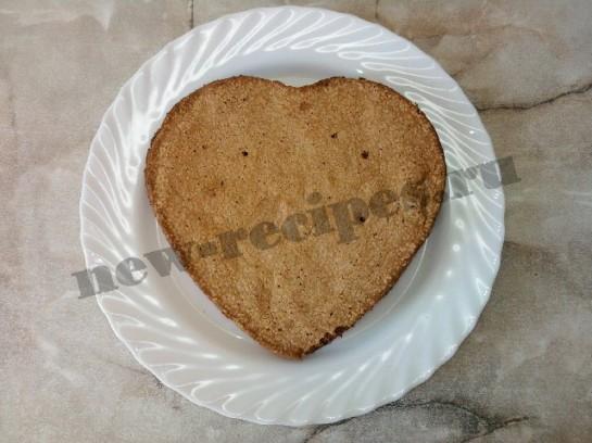 торт сердце шоколадный бисквит 13
