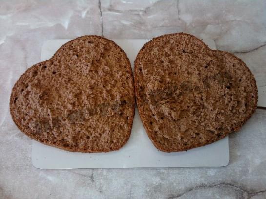торт сердце шоколадный бисквит 14