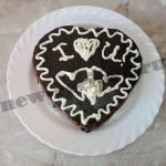 торт сердце шоколадный бисквит 21