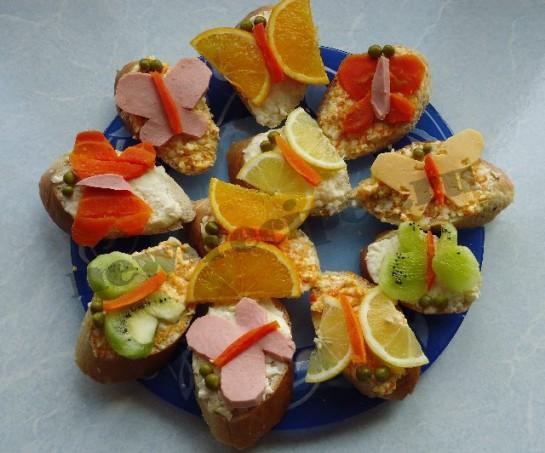 Как сделать красивые бутерброды Бабочки