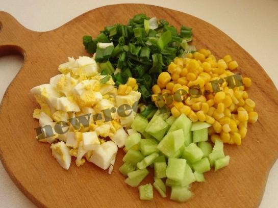 весенний салат в креманках 2