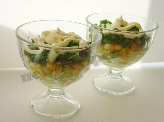 весенний салат в креманках 8