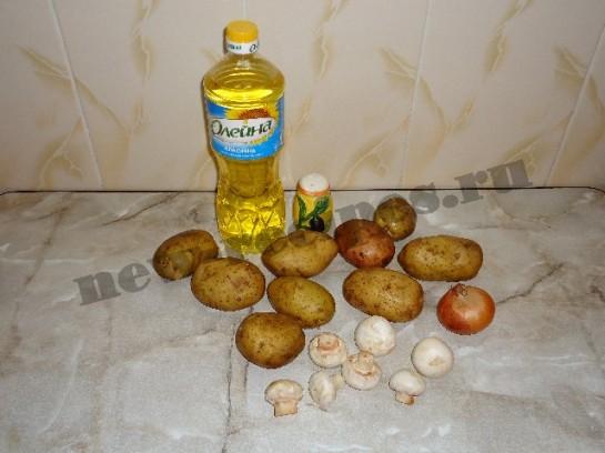 жареная картошка с грибами 1