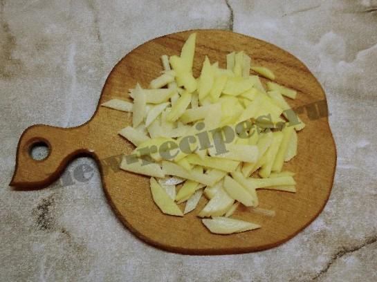 жареная картошка с грибами 4