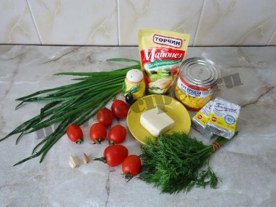 салат букет тюльпанов 1