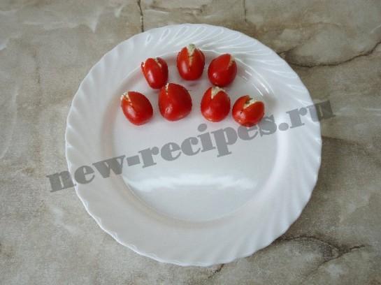 салат букет тюльпанов 4