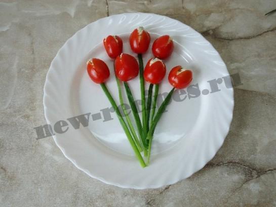 салат букет тюльпанов 5