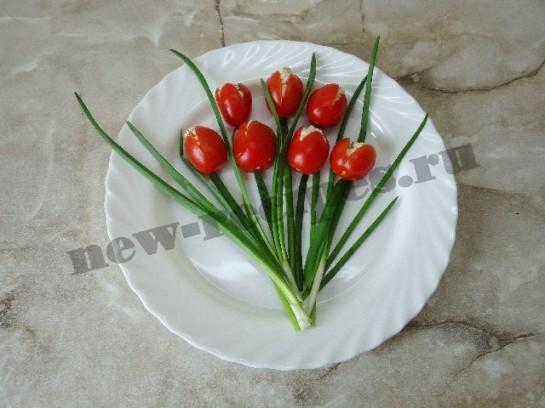 салат букет тюльпанов 6